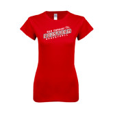 Next Level Ladies SoftStyle Junior Fitted Red Tee-RedStorm Basketball