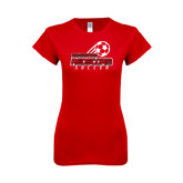 Next Level Ladies SoftStyle Junior Fitted Red Tee-RedStorm Soccer