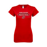 Next Level Ladies SoftStyle Junior Fitted Red Tee-Banner Track & Field