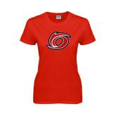 Ladies Red T Shirt-Cyclone O