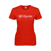 Ladies Red T Shirt-Institutional Mark