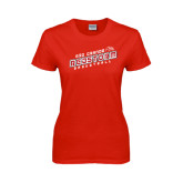 Ladies Red T Shirt-RedStorm Basketball