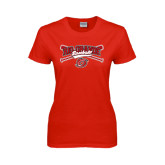 Ladies Red T Shirt-Rio Grande Baseball