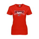 Ladies Red T Shirt-Rio Grande Baseball