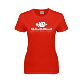 Ladies Red T Shirt-XC Cross Country