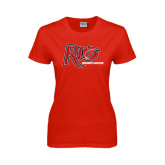 Ladies Red T Shirt-Soccer-Womens