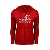 ENZA Ladies Red Fleece Full Zip Hoodie-RedStorm Soccer