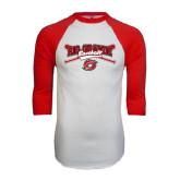 White/Red Raglan Baseball T-Shirt-Rio Grande Baseball