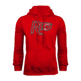 Red Fleece Hoodie-Rio