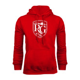 Red Fleece Hoodie-Shield Logo