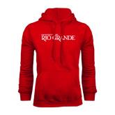 Red Fleece Hoodie-Institutional Mark