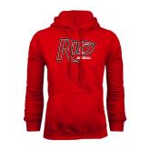 Red Fleece Hood-Baseball