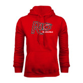 Red Fleece Hoodie-Track & Field