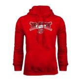 Red Fleece Hoodie-Rio Grande Baseball