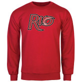 Red Fleece Crew-Rio