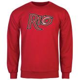 Red Fleece Crew-Rio