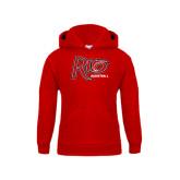 Youth Red Fleece Hoodie-Basketball