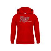 Youth Red Fleece Hoodie-Basketball-Womens