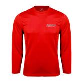 Syntrel Performance Red Longsleeve Shirt-RedStorm