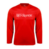Performance Red Longsleeve Shirt-Institutional Mark