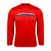 Performance Red Longsleeve Shirt-Arched RedStorm Bottom