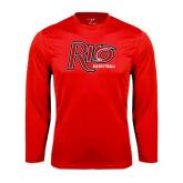 Syntrel Performance Red Longsleeve Shirt-Basketball