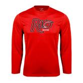 Syntrel Performance Red Longsleeve Shirt-Soccer
