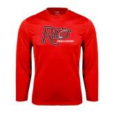 Performance Red Longsleeve Shirt-Cross Country