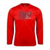 Performance Red Longsleeve Shirt-Grandpa