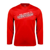 Syntrel Performance Red Longsleeve Shirt-RedStorm Basketball