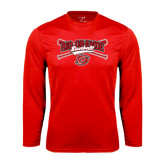 Syntrel Performance Red Longsleeve Shirt-Rio Grande Baseball