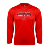 Syntrel Performance Red Longsleeve Shirt-Banner Track & Field