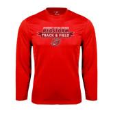 Performance Red Longsleeve Shirt-Banner Track & Field