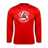 Syntrel Performance Red Longsleeve Shirt-Circular Volleyball
