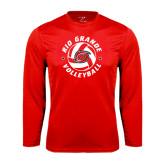 Syntrel Performance Red Longsleeve Shirt-Circular Volleyball