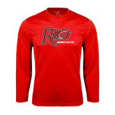 Performance Red Longsleeve Shirt-Soccer-Womens