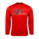 Performance Red Longsleeve Shirt-Basketball-Womens