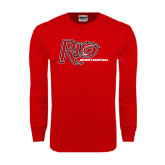 Red Long Sleeve T Shirt-Basketball-Womens