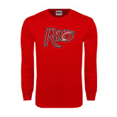 Red Long Sleeve T Shirt-Rio