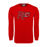 Red Long Sleeve T Shirt-Rio Distressed