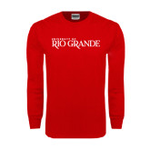 Red Long Sleeve T Shirt-Institutional Mark