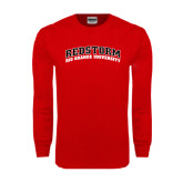 Red Long Sleeve T Shirt-Arched RedStorm Top