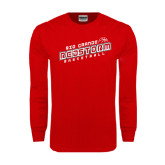 Red Long Sleeve T Shirt-RedStorm Basketball