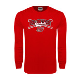 Red Long Sleeve T Shirt-Rio Grande Baseball