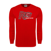 Red Long Sleeve T Shirt-Soccer-Womens