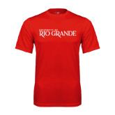 Performance Red Tee-Institutional Mark