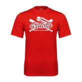 Syntrel Performance Red Tee-Softball Crossed Bats
