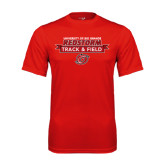 Performance Red Tee-Banner Track & Field
