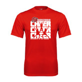 Performance Red Tee-Cheer Stacked