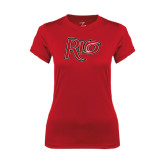 Ladies Syntrel Performance Red Tee-Rio